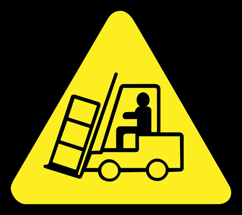 Logo attention chariot élévateur