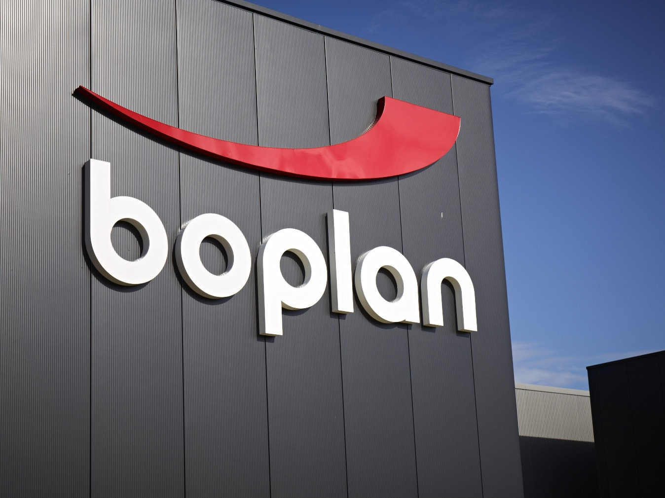 Boplan logo headquarters building
