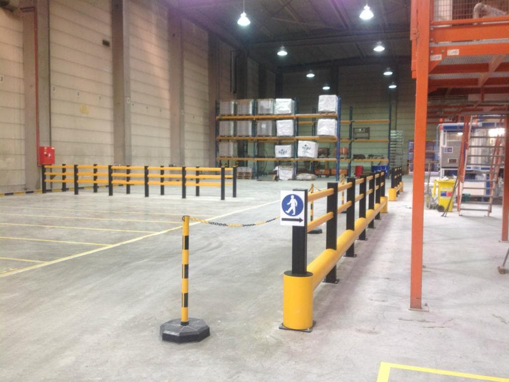 Boplan Safety Barriers installed in Chemical Factory