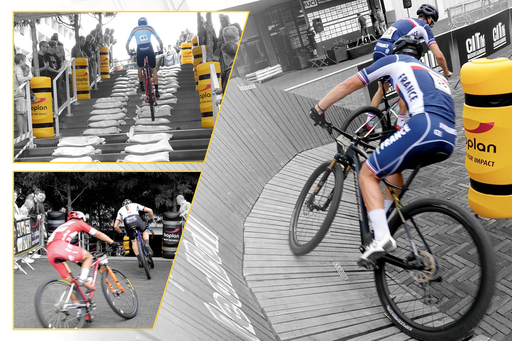 Aanrijdbeveiliging op WK City Mountainbike Waregem