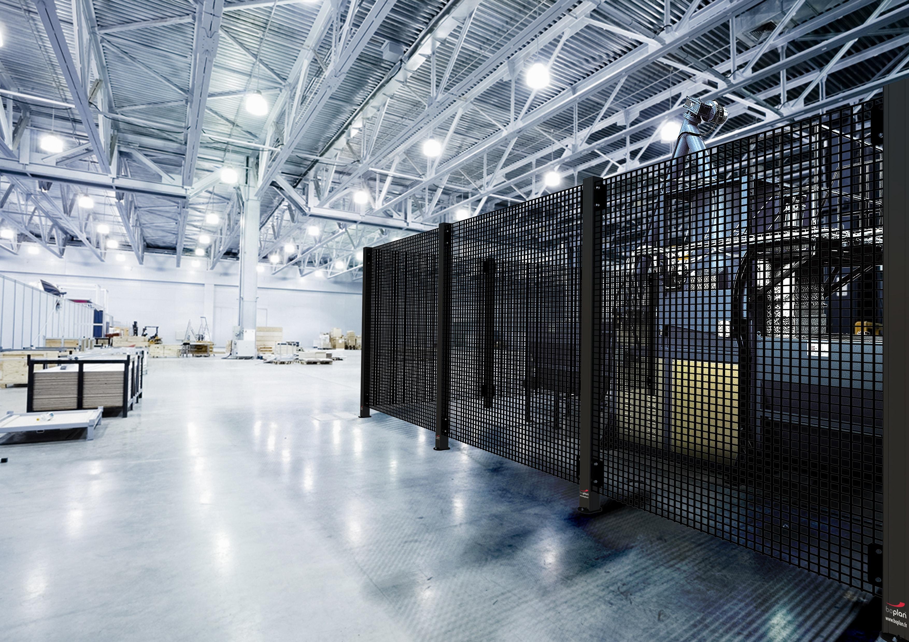 Cloison grillagée industrielle | Protection des machines