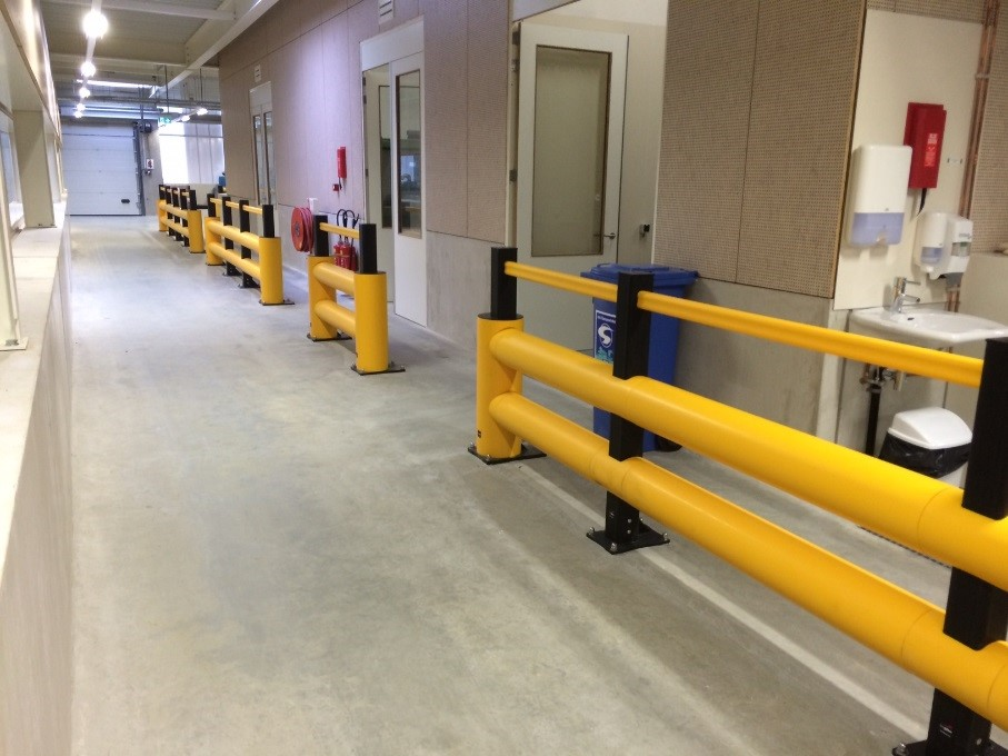 Flexible Safety Barrier - Food Manufacturing Application