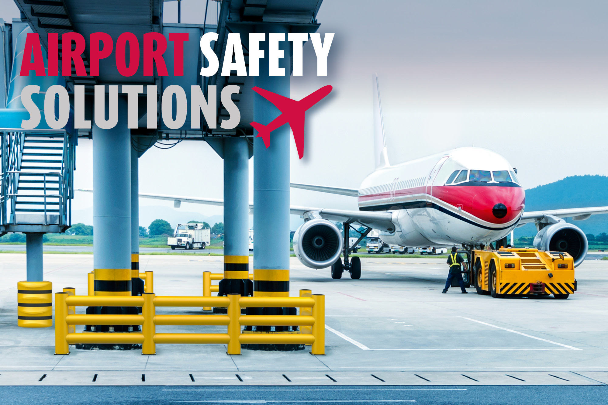 Anfahrschutz für Flughafen