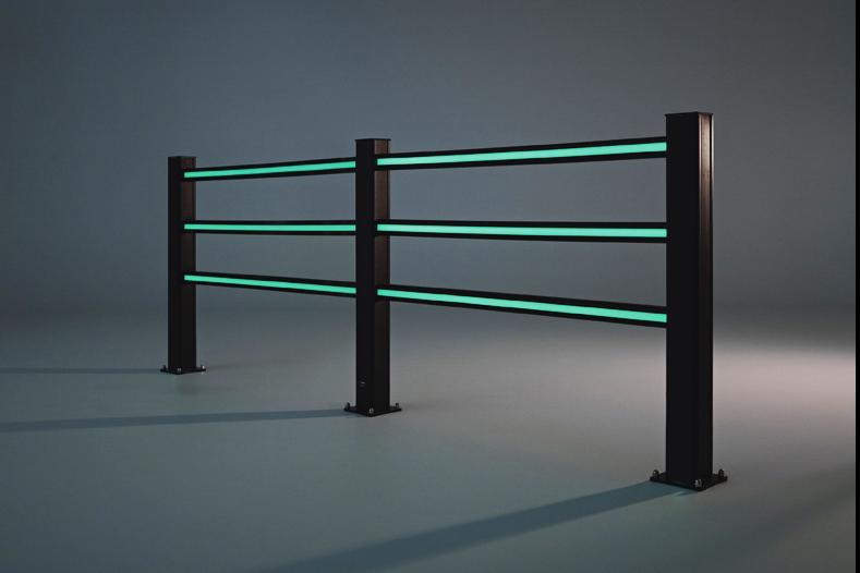 Boplan Flex Impact handrail glow in the dark