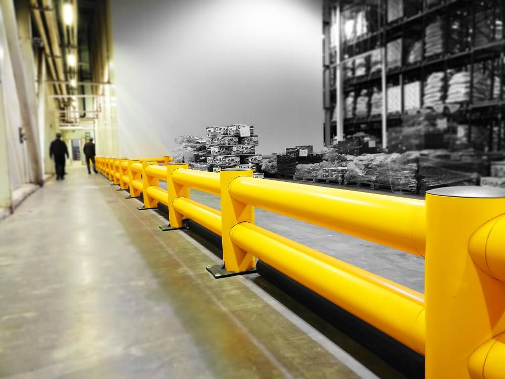 warehouse saftey barrier