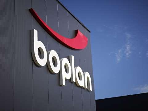 Boplan logo headquarters building