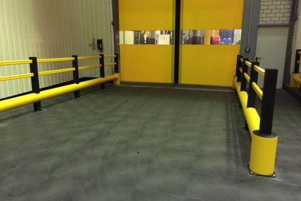 Schutz einer Lagerhalle