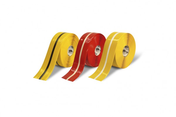 Two tone center-line tapes to customize your facility