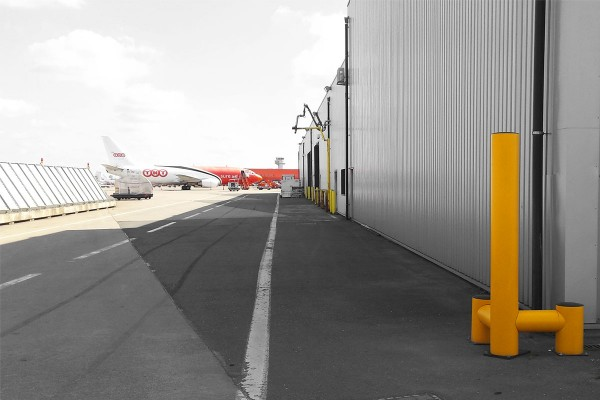 Liege Airport corner protection