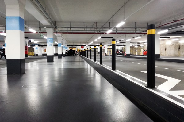 safety barriers parking
