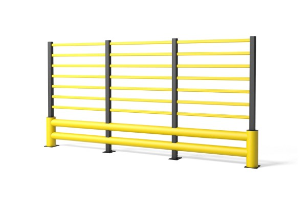 Barrière de circulation en polymère flexible TB 400 Double Grill