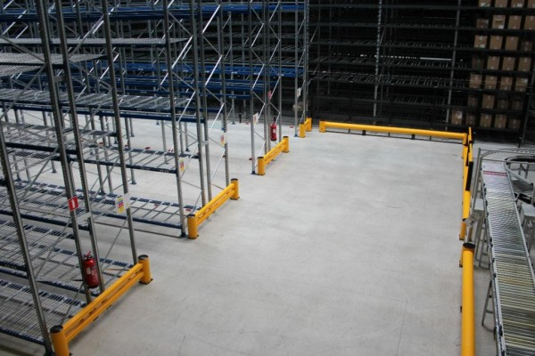 Boplan Safety Barriers installed in Warehouse