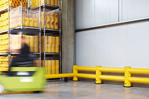 Boplan Flex Impact traffic barriers TB Doubel Super forklift
