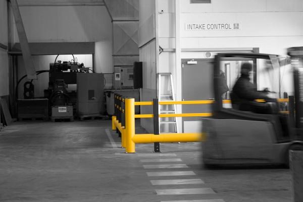 Zones à risque dans un entrepôt
